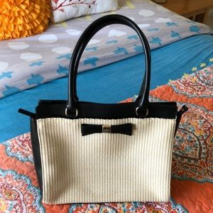 Kate spade straw bag with bow